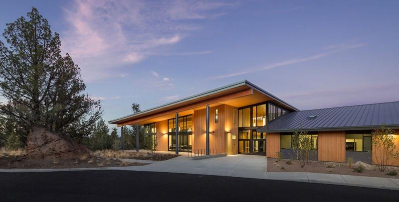 Cascades Academy 0317 Ext Entry Dusk