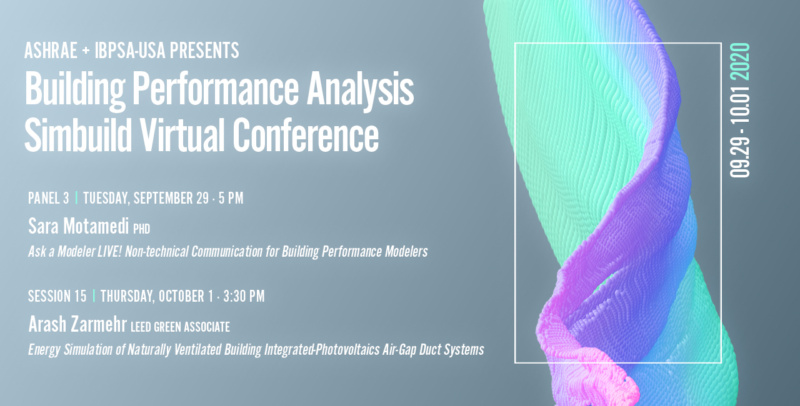 2020 Building Performance Analysis Simbuild Virtual Conference