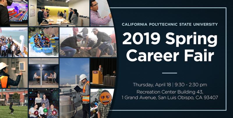 Cal Poly 2019 Spring Career Fair Social Promo 1280x650