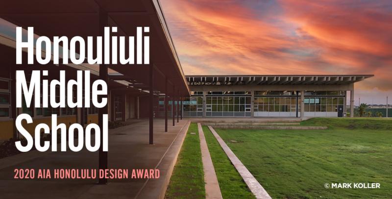 Honouliuli Middle School AIA Design Award Social Post 1280x650