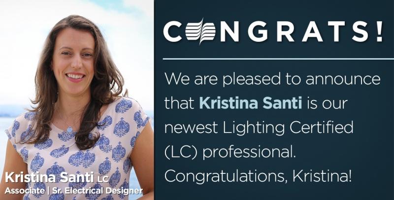 Kristina Santi Lighting Certified Social Promo