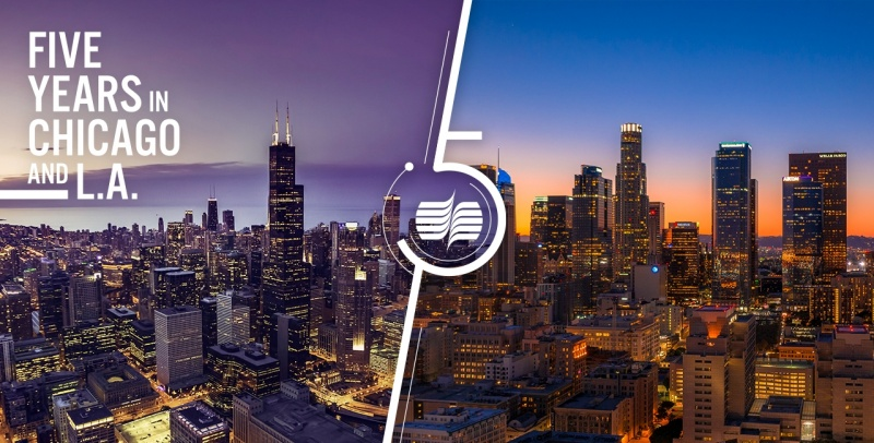LA Chicago 5 Years social promo