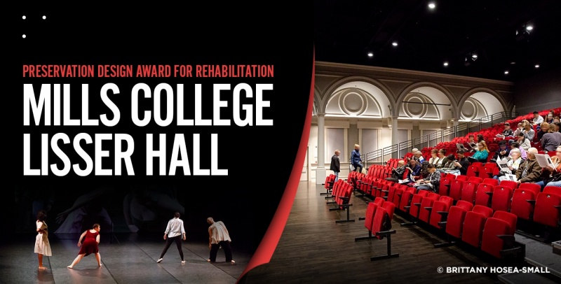 Mills College Lisser Hall Preservation Design Award for Rehabilitation 1280x650