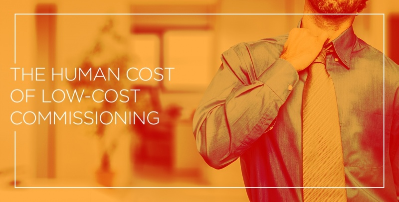 Human Cost Of Low Cost Commissioning Header Graphic